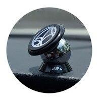 Promotion 2pcs 360 Degree Magnetic Car Dashboard Mobile Phone Mount Holder Magnet Rack Steelie Car Kit