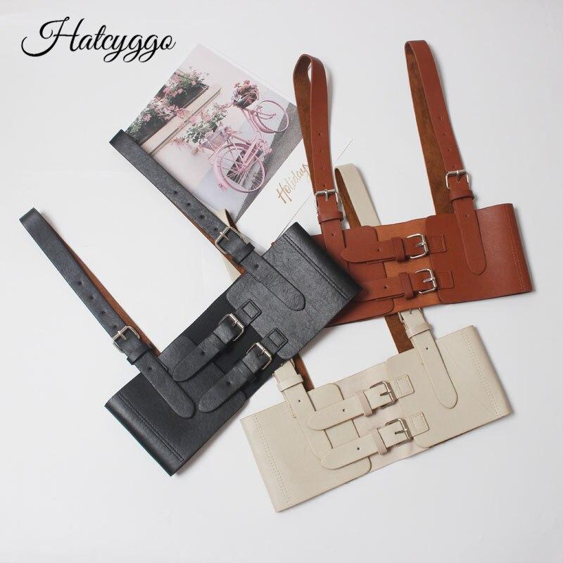 HATCYGGO Womens Sexy Elastic Garter Belt Cage Sculpting Harness Waist Adjustable Suspender Straps Slim Body Jewelry Waistband