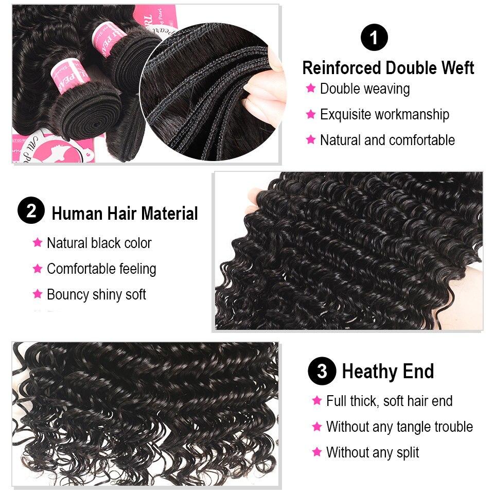 HTB1N0NnlyMnBKNjSZFzq6A qVXaq AliPearl Hair 3 Bundles Brazilian Deep Wave 100% Human Hair Bundles With Frontal Natural Black Remy Hair Extension Free Shipping