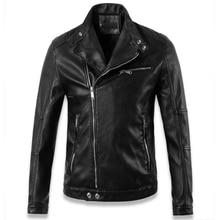 European Style Hot Star Men Motorcycle Leather Jacket Overcoat Winter Jaqueta de Couro Masculina Mens Branding PU Windbreak C018