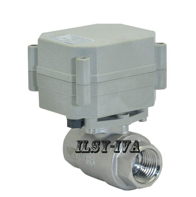 DN15 SS304 Electronic Ball Valve,AC110~230V Stainless steel ball valve normal close/open tsai fan motorized ball valve 2 ac110 230v 2 5 wires electric valve dn50 upvc ball valve normal close open for hvac systems