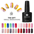 MSHARE UV Gel Nail Polish Art Decoration 128 Colors 10ML Long Lasting Varnish Manicure Health Nail Lacquer + Free Rhinestone