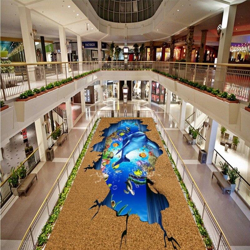 Spedizione Gratuita Ocean World Dolphin outdoor 3D pittura usura antiscivolo da letto bagno ristorante della lobby pavimentazione muraleSpedizione Gratuita Ocean World Dolphin outdoor 3D pittura usura antiscivolo da letto bagno ristorante della lobby pavimentazione murale