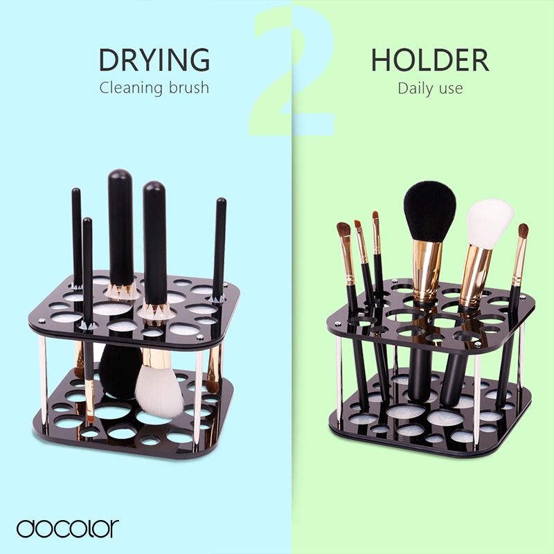 Docolor 2 in 1 brush holder makeup brush stand for drying and holder new design cosmetic tools make-up brush organizer Stand цена
