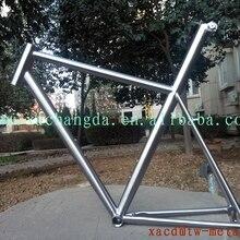 Китайская рама для дорожного велосипеда Ti, титановая рама для дорожного велосипеда, подседельный штырь, комбинированная рама для дорожного велосипеда с обработанной щеткой