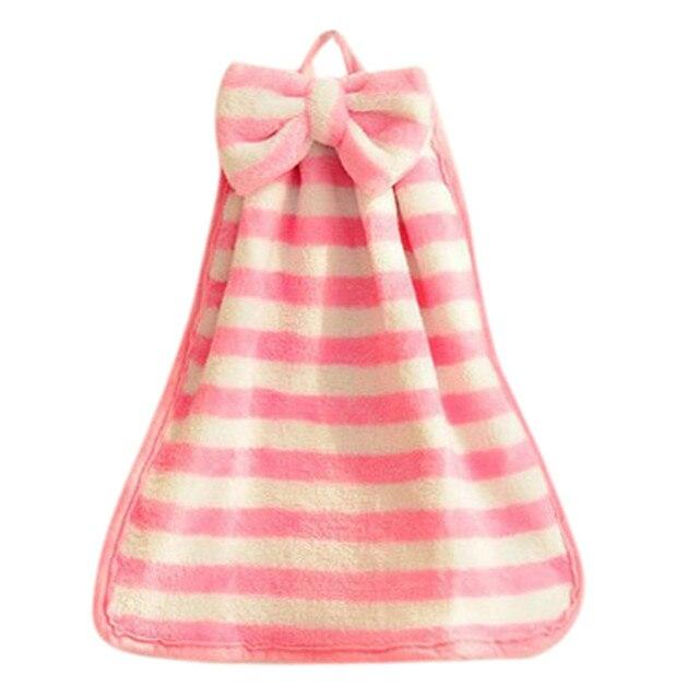 5 stili Strisce Scuola Materna A Mano Asciugamano Morbido Tessuto Della Peluche Del Fumetto Animale Appeso Pulire Asciugamano Da Bagno Accessori Per il Bagno Asciugamano