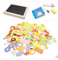 Learning & Education Toys Animal Magnetic Puzzle Wooden Children Multifunction Writing Drawing Board Blackboard Fantastic Easel
