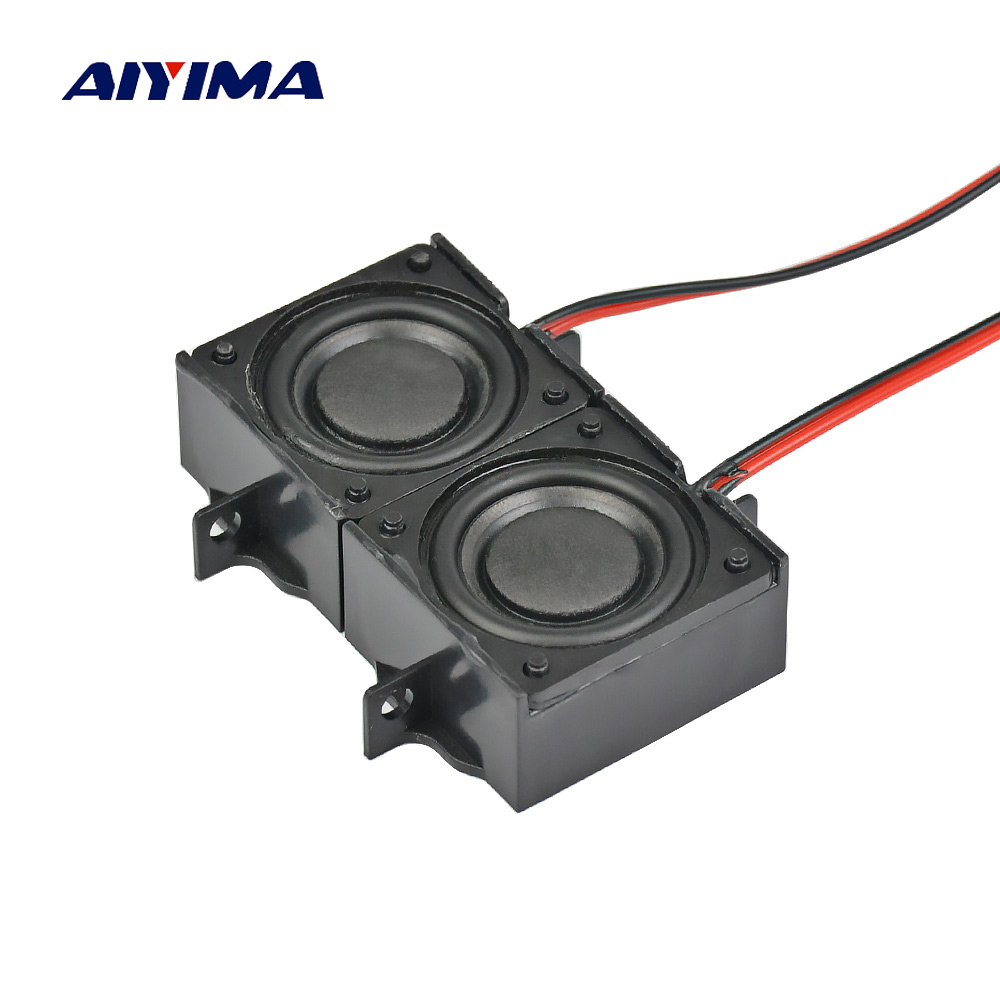 AIYIMA 2Pcs Audio Portable <font><b>Speakers</b></font> Altavoz <font><b>8</b></font> <font><b>Ohm</b></font> <font><b>5W</b></font> LCD TV Advertising <font><b>Speaker</b></font> Ses Sistemi Altavoces Hoparlor DIY Home Theater image