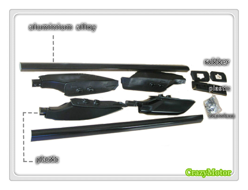 Black Top Roof Rack Rails Luggage Carrier Bars For Toyota Prado FJ120 2003 2004 2005 2006 2007 2008 2009  factory style car roof rack rails bars black for toyota rav4 2006 2007 2008 2009 2010 2011 2012
