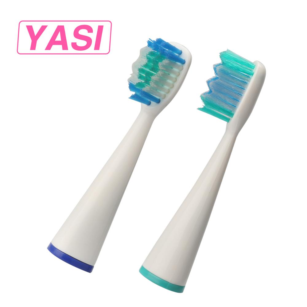 YASI 2 Pcs/Pack Toothbrush Head Electric Toothbrush Replacement Head Fit for A11/YS961/YS964/Travel/Toothbrush Oral Hygiene 2pcs philips sonicare replacement e series electric toothbrush head with cap
