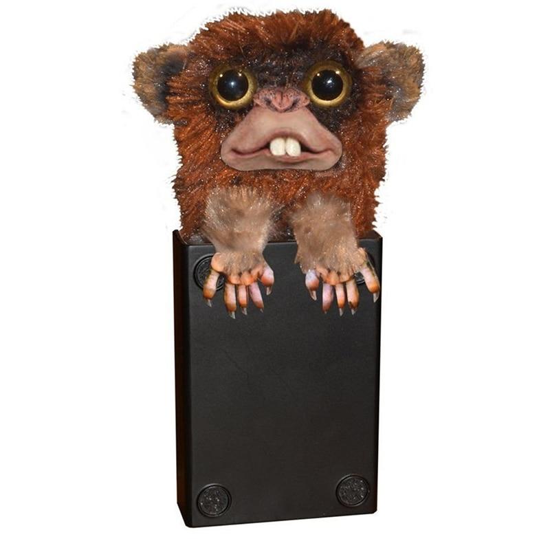 2018 Sneekums innovants jouet Spoof singe jouets pour animaux de compagnie farceur Jitters fourrure en plastique brun Pet Surprise jouets de fourrure en plastique doigt jouets