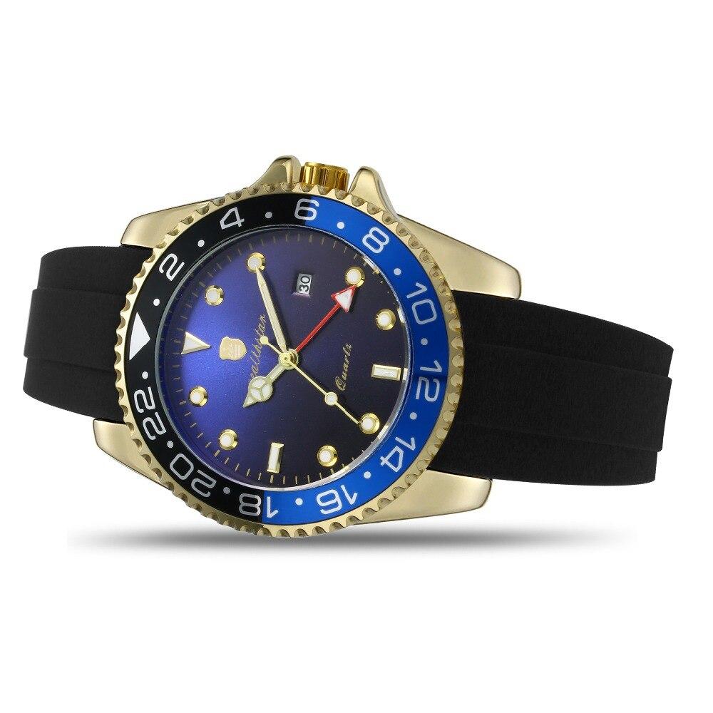 automática relógios de quartzo pulseira de silicone