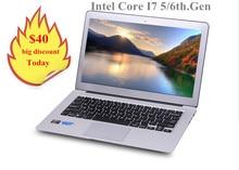 13.3 inch алюминия Core I7 5500U ноутбук клавиатура с подсветкой 4 Г/8 ГБ 128 Г/256 ГБ SSD USB 3.0 HDMI WI-FI I7 notebook pc
