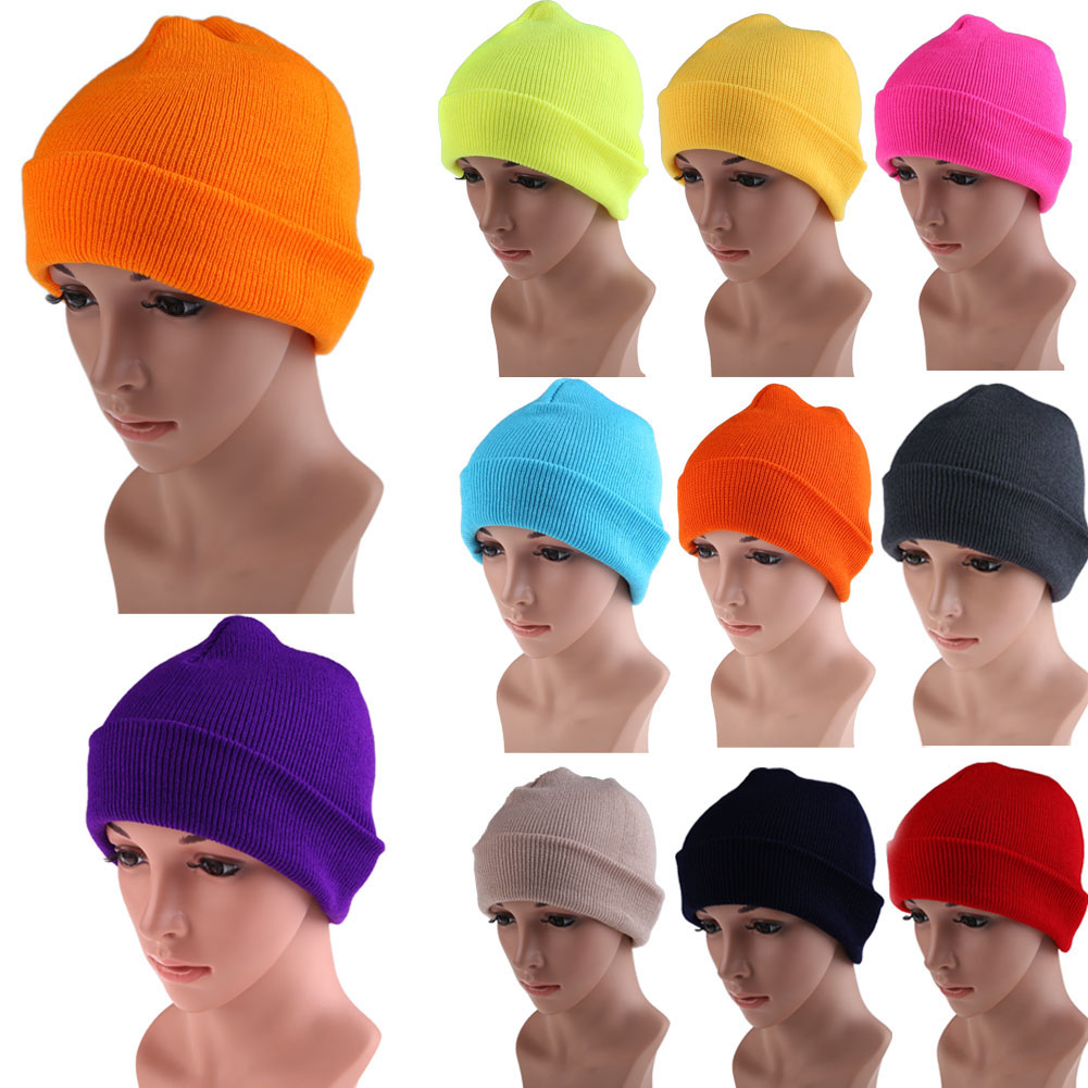 21 Colors High Quality Hats Female Winter Beanies Solid Candy Color Men Women Warm Cuff Plain Knit Ski Long Beanie Skull Cap hight quality winter beanies women plain warm soft beanie skull knit cap hats solid color hat for men knitted touca gorro caps