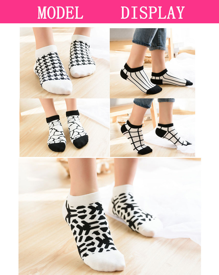 5 Pairs/Lot Cotton Socks Women Casual Boat Low Cut Summer Fashion Short Ankle Socks Women 5 Styles Hot Sale 17 New 4