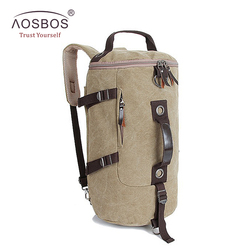 Aosbos travel drum bag portable multifunctional vintage canvas solid backpack large capacity men women luggage duffle.jpg 250x250
