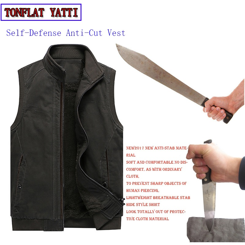 Winter Tactics Stab-Resistant Cut Plus Velvet Large Size Vest Bodyguard Self-Defense Self-Defense To Prevent Accidental Injury