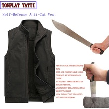 Winter Tactics Stab-Resistant Cut Plus Velvet Large Size Vest Bodyguard Self-Defense Self-Defense To Prevent accidental Injury