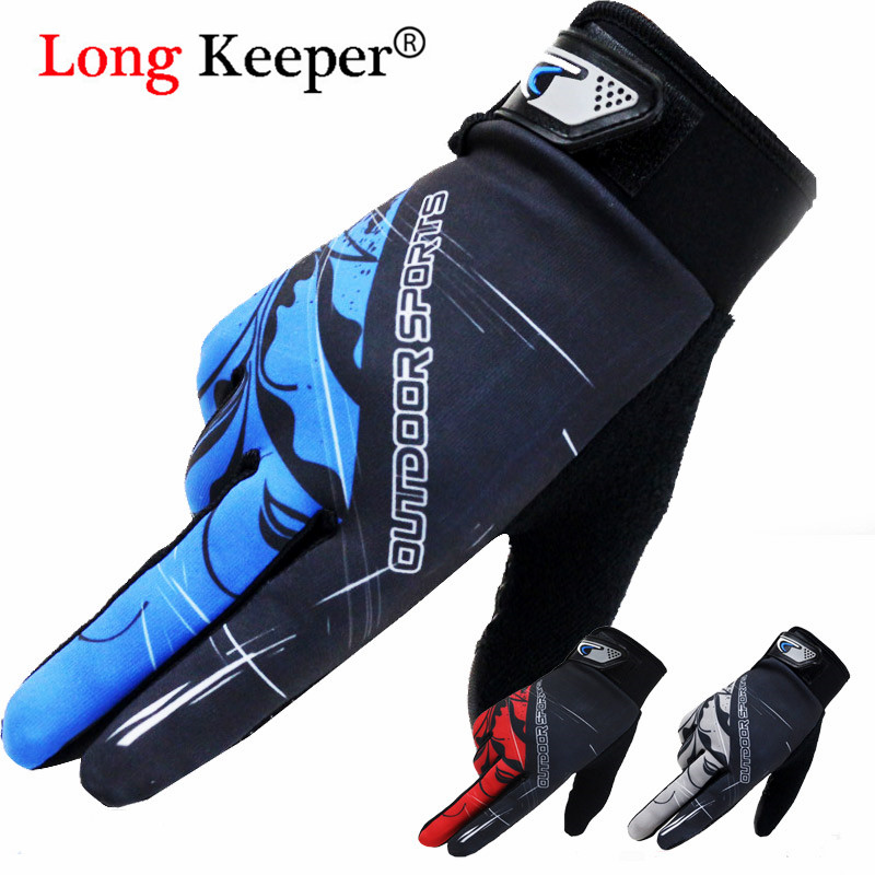 Long Keeper Bike Bicycle Gloves Full Finger Touchscreen Men Women MTB Gloves Breathable Spring Summer Mittens Luva Mitten