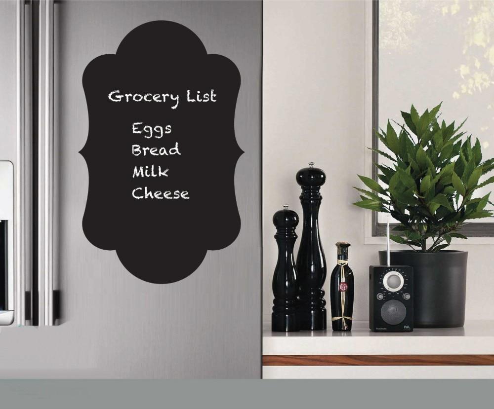 US $2.74 31% OFF|Kühlschrank Aufkleber Vinyl Aufkleber Tafel Aufkleber,  Chalk board Wandaufkleber Küche Dekoration Größe 30x50 CM Küche D729-in ...