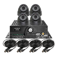 Free Shipping 4CH 128G SD HD 720P AHD Car MDVR CCTV Surveillance System Car Recorder DVR