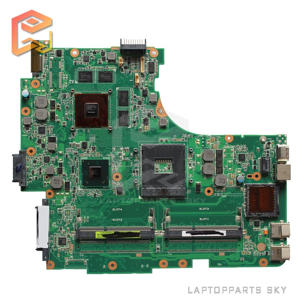 For ASUS N53SV N53SN N53SM laptop motherboard REV2.2 GT540M intel DDR3 HM65 2 memory slots 100% fully tested working well for msi ms 10371 intel laptop motherboard mainboard fully tested works well