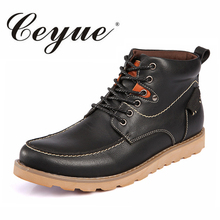 Ceyue Autumn Men Boots High Quality Male Genuine Leather Boots Work & Safety Boots Men Fashion Breathable Walking Men Work Shoes
