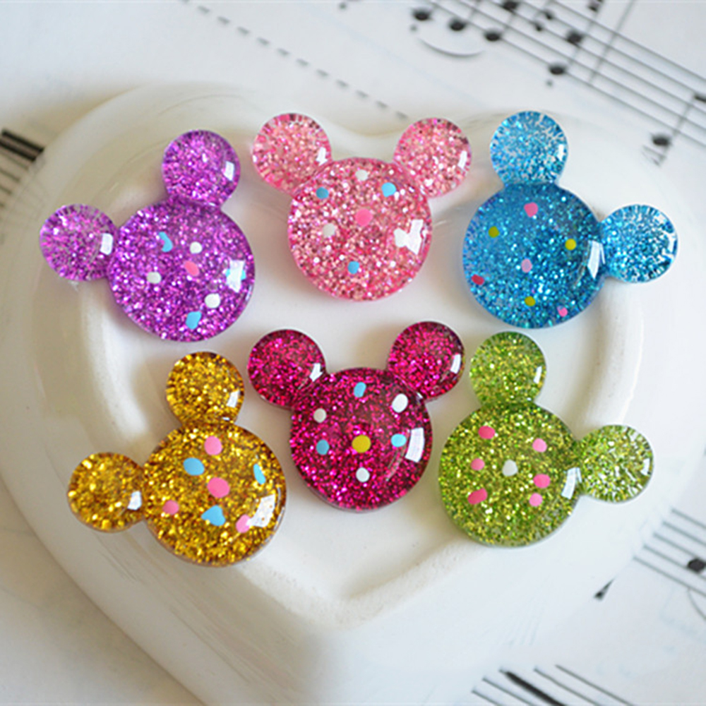 Mickey Donut Supplements Charms For Slime DIY Polymer Filler Addition Slime Accessories Toys Lizun Modeling Clay Kit For Child