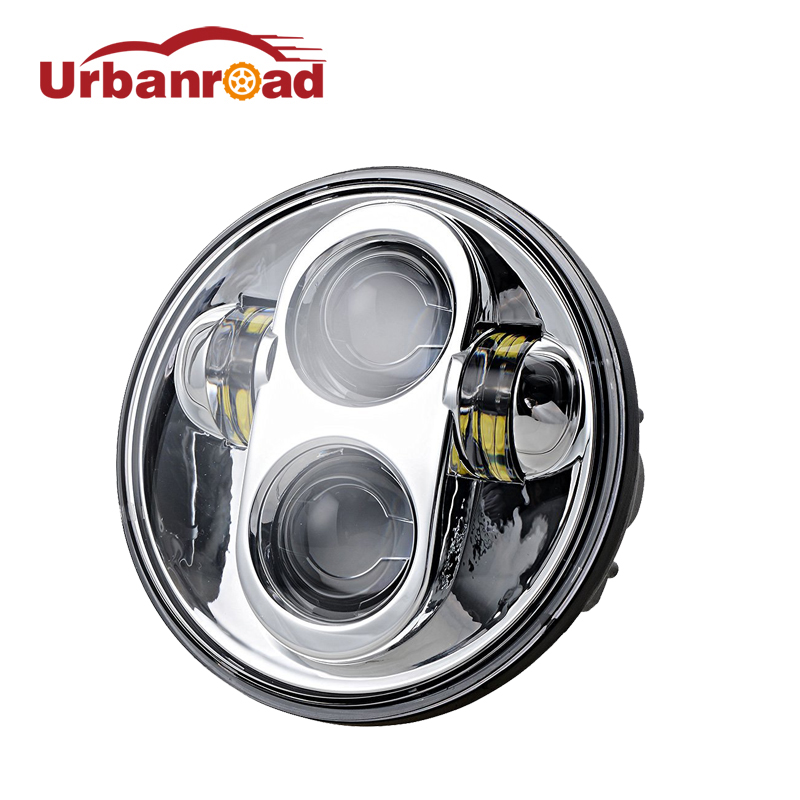 1PC Round 5.75'' led headlight high low for Harley motorcycle 5 3/4 5.75 projector Led Headlamp For Harley