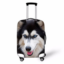 3D Animals Print Travel Luggage Cover Strech Fabric Wolf Tiger Horse Baggage Protective Covers for Trolley Suitcase(China)