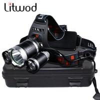 Litwod Z30 Led Headlamp XM L 3T6 Headlight 8000 Lumen Led Head Lamp Camp Hike Emergency