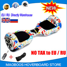Meihua battery4400mA  two wheel smart self balaning scooter Electric hover board unicycle body feeling twisting skateboard