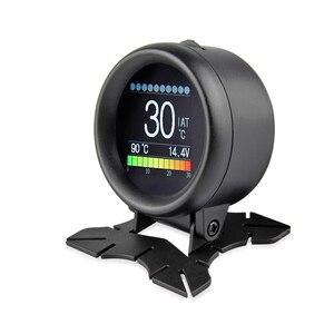 Image 3 - Nowy A205 wielofunkcyjny samochód OBD2 inteligentny miernik cyfrowy Alarm miernik temperatury wody cyfrowy miernik napięcia prędkościomierz