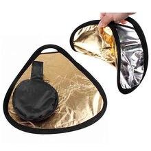 2в1 30 см золото/серебро Портативный складной ручной Фото Отражатель с сумкой