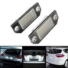 1 Par Super Brillante Luz de la Matrícula para Ford 5 W 24 LED Automóvil Accesorios 6000 K Fuente de Luz Car Styling