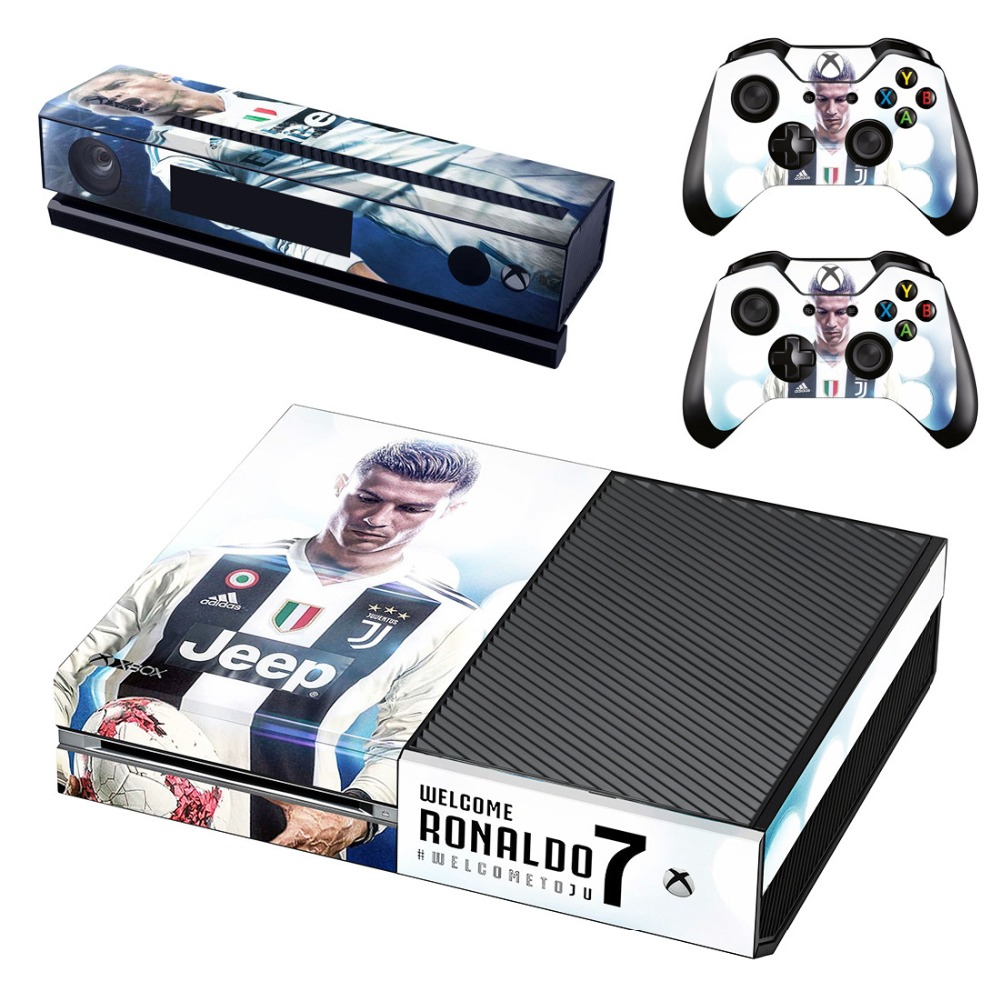 Faceplates, Decals & Stickers Juventus Cristiano Ronaldo Sticker Xbox One For Console And 2 Controllers Video Game Accessories