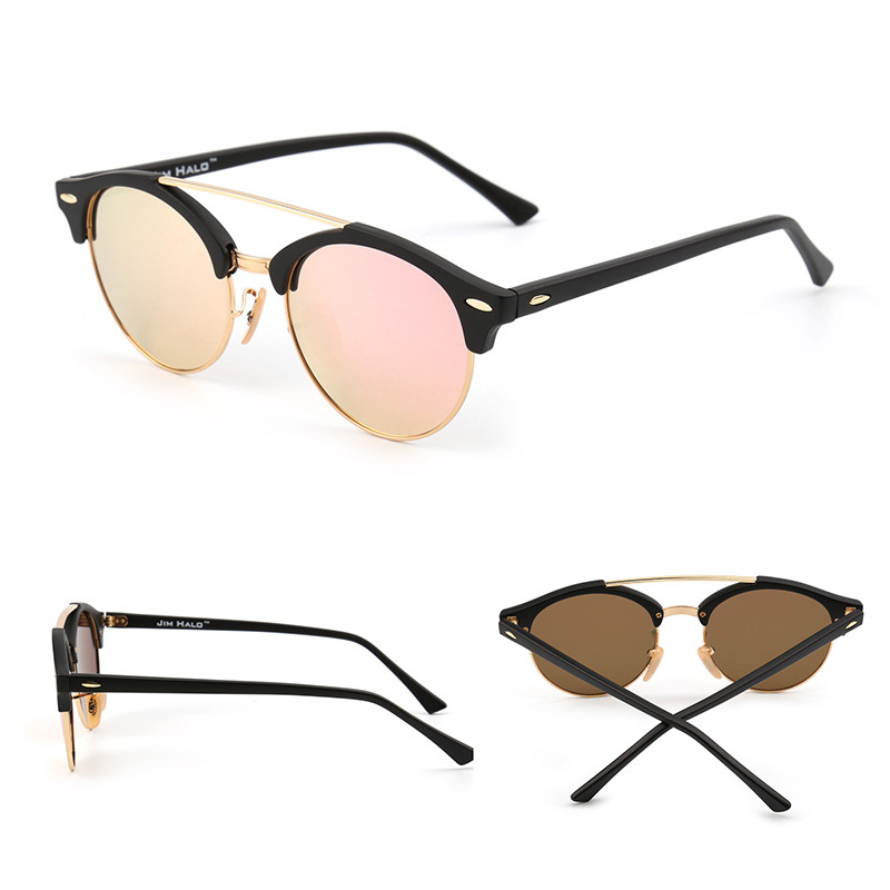 9615c1dbfb1 Jim Halo Wholesale 10pcs lot Retro Polarized Mirrored Tinted Round  Sunglasses Circle Lens Men Women Vintage Sun Glasses Fashion-in Sunglasses  from Women s ...