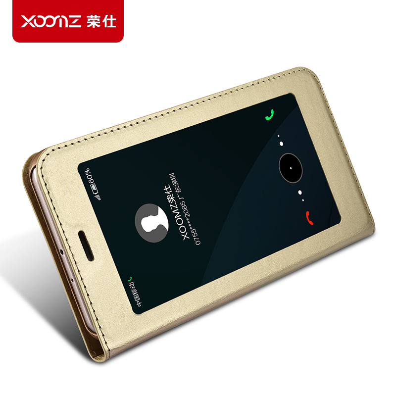 XOOMZ Brand genuine leather cover for huawei honor 8 pro real cow skin case for huawei honor8 pro smart window Intelligent sleep