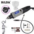 HILDA электрическая дрель с переменной скоростью 400 Вт в стиле Dremel для вращающегося инструмента Dremel  мини-дрель для инструментов Dremel  мини-шлиф...