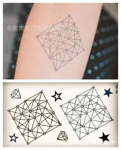 Body Art Harajuku impermeabile tatuaggi temporanei per gli uomini e le donne 3d disegno della batteria piccolo autoadesivo del tatuaggio Commercio All'ingrosso HC1123