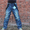 Classic Denim Suspenders Thickened Snowboard Pants for Adult Waterproof Windproof Sport Pants Breathable Ski Pants Sportswear