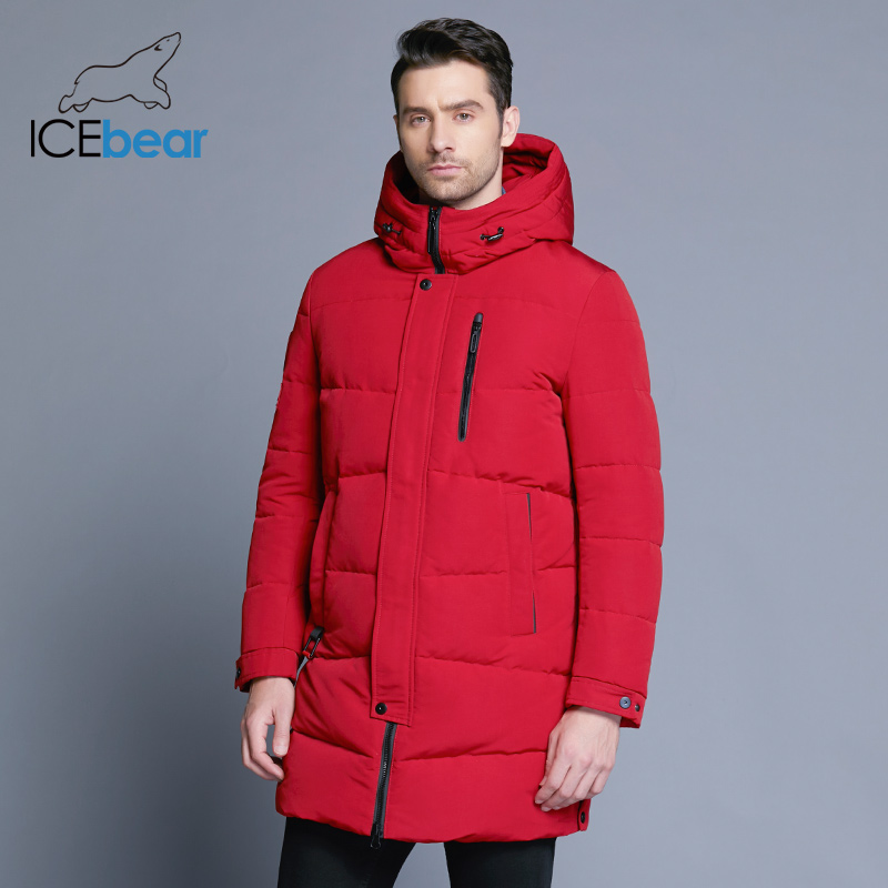 ICEbear 2018 Hot Sale Winter Warm Windproof Hood Men Jacket Warm Men   Parkas   High Quality   Parka   Fashion Casual Coat MWD18856D