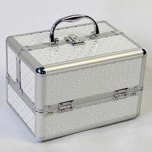 Sacchetto Cosmetico Professionale portatile Valigie Per Cosmetici Grande Capacità Delle Donne di Spazzola di Trucco Scatola di Grande Capacità di Borse Da Viaggio