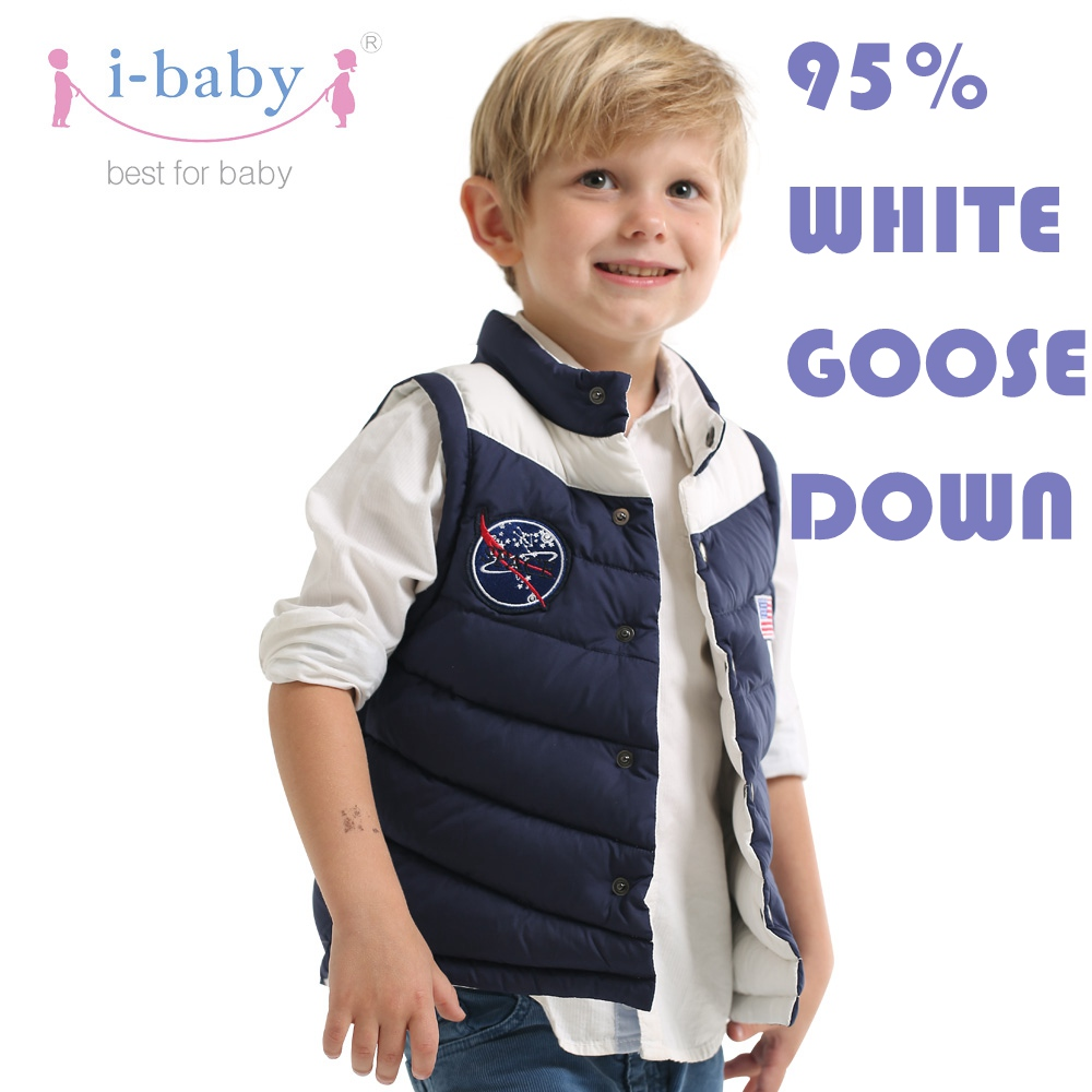 i-baby Waistcoat Outlast Kids Puffer Vest Baby Cozy Down Sleeveless with double Layers Filling for Winter Double Side Wear