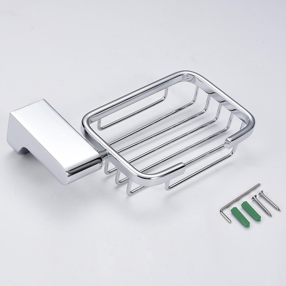 Homgeek Soap Dish Wall Mounted Chromed Stainless Steel Soap Basket ...