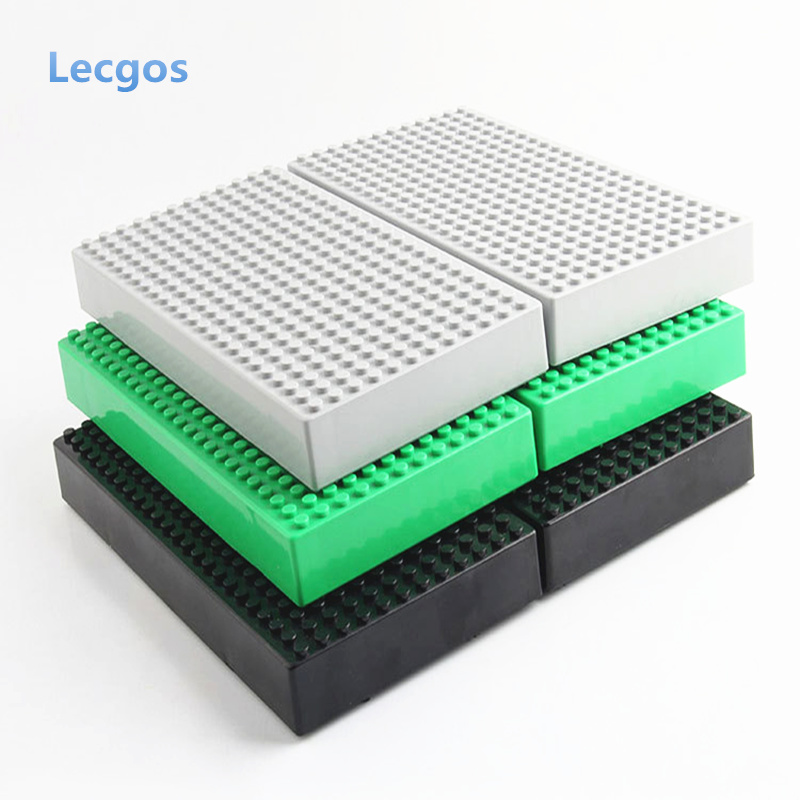 Lecgos 12*24 dot Blocks Storage Box  Base Plate box Building Blocks toy DIY Baseplate Compatible with Lecgos Blocks lecgos big size 40 40cm blocks diy baseplate with 50 50 dot bricks base plate with lecgos