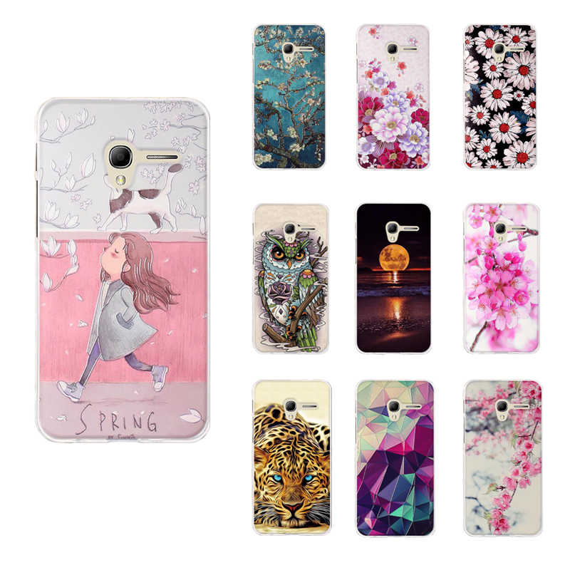 "Soft Silicone Cover Case For Alcatel One Touch Pop 3 5"" Case Coque For Alcatel Pop 3 5015 5015D Print 3D Phone Bumper 5.0"" Case"