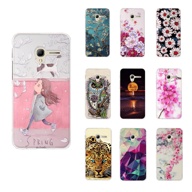 Flip Cases Qijun Case Capa For Alcatel One Touch Pop 3 5.5 Inch 5025 5025d Painted Cartoon Magnetic Flip Window Pu Leather Phone Cover Phone Bags & Cases