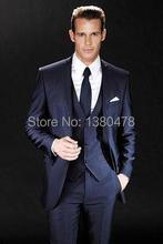 Groom Tuxedos Best man Suit Wedding Groomsman/Men Suits Bridegroom (Jacket+Pants+Tie+Vest)Free Shipping