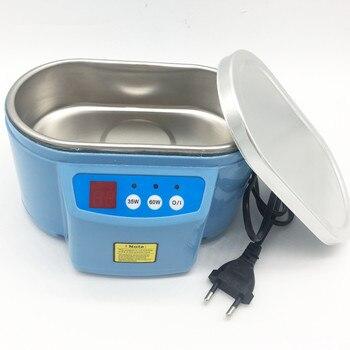 Caliente 35 W/60 W 220V Mini baño ultrasónico limpiador para limpiar el reloj de joyería gafas de circuito de placa de circuito limpiador ultrasónico baño EU